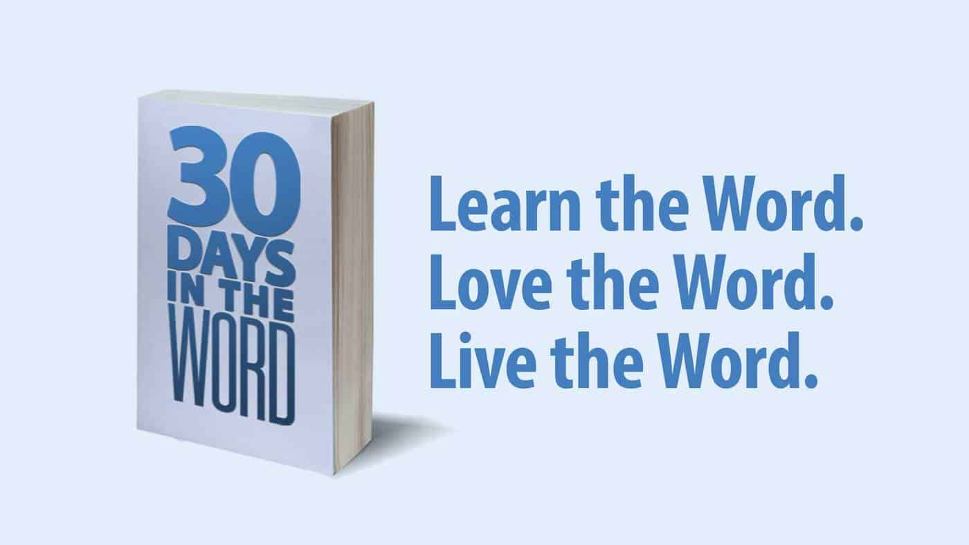 30 Days In The Word Study